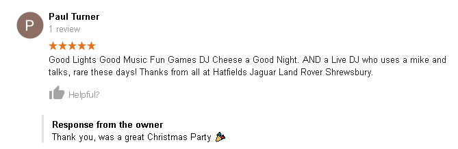 Christmas Party DJ Review