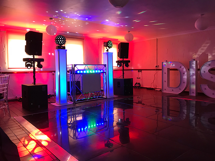 A Fabulos Wedding DJ Setup