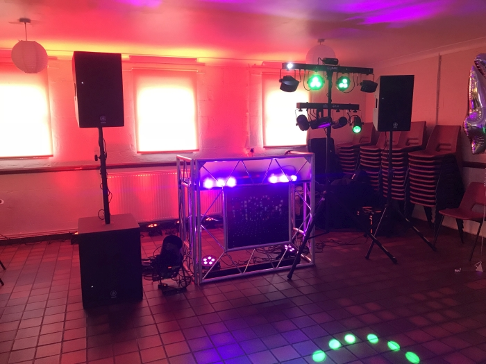 Sound and Lighting Disco Setup DJ Cheese Discos May 2018
