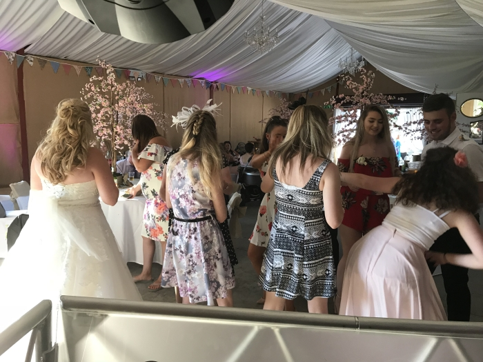 Wedding DJ Disco at Glyngynwydd Cottages and Wedding Barn