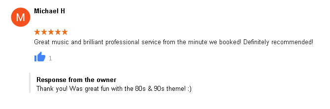 5 Star DJ Review by Michael H